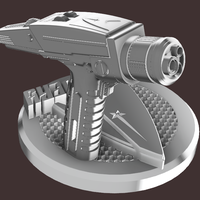 Small star trek discovery Phaser with stand  3D Printing 207293