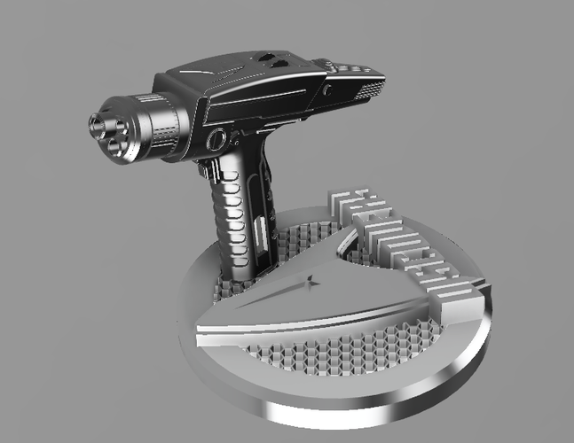 star trek discovery Phaser with stand  3D Print 207294