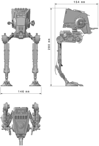 Star Wars ATST Walker - Ready to print - With instructions