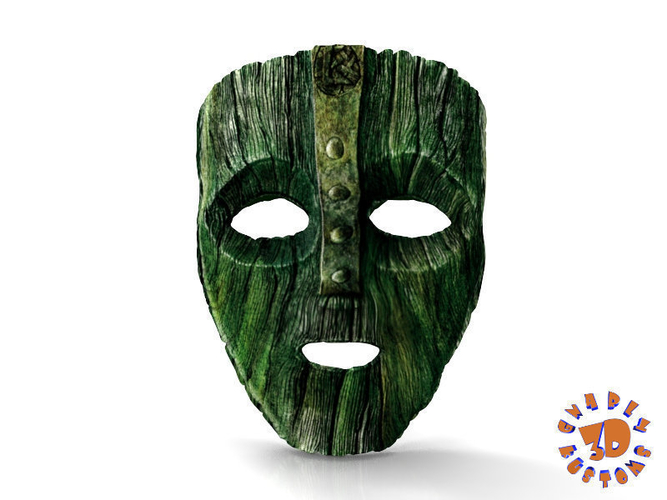 "Jim Carrey's -  Loki Mask from the movie ""The Mask"" 3D Print 207455"