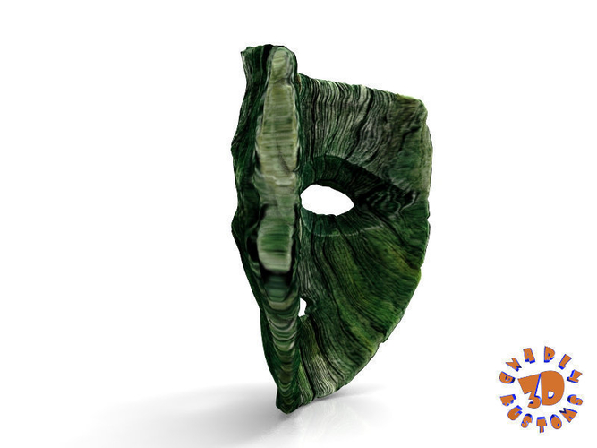 "Jim Carrey's -  Loki Mask from the movie ""The Mask"" 3D Print 207458"