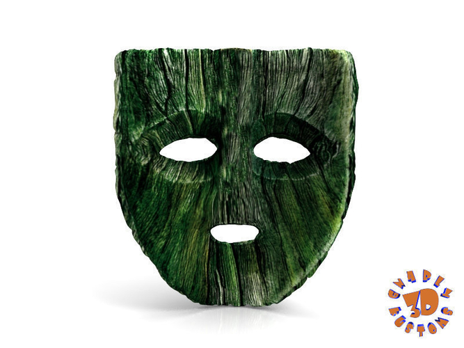 "Jim Carrey's -  Loki Mask from the movie ""The Mask"" 3D Print 207459"