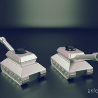 Small Cat in a tank 3D Printing 207481