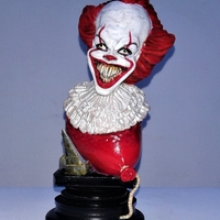 Small Pennywise Bust 3D Printing 207499