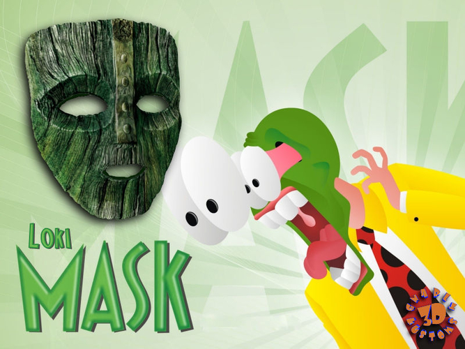 "Jim Carrey's -  Loki Mask from the movie ""The Mask"" 3D Print 207500"