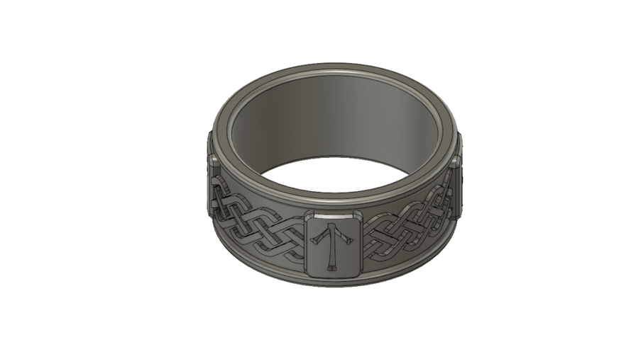 Viking Rune Ring 3D Print 207529