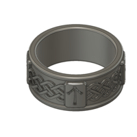 Small Viking Rune Ring 3D Printing 207529