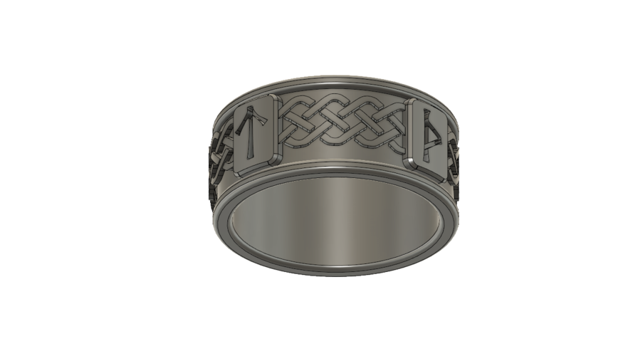 Viking Rune Ring 3D Print 207530