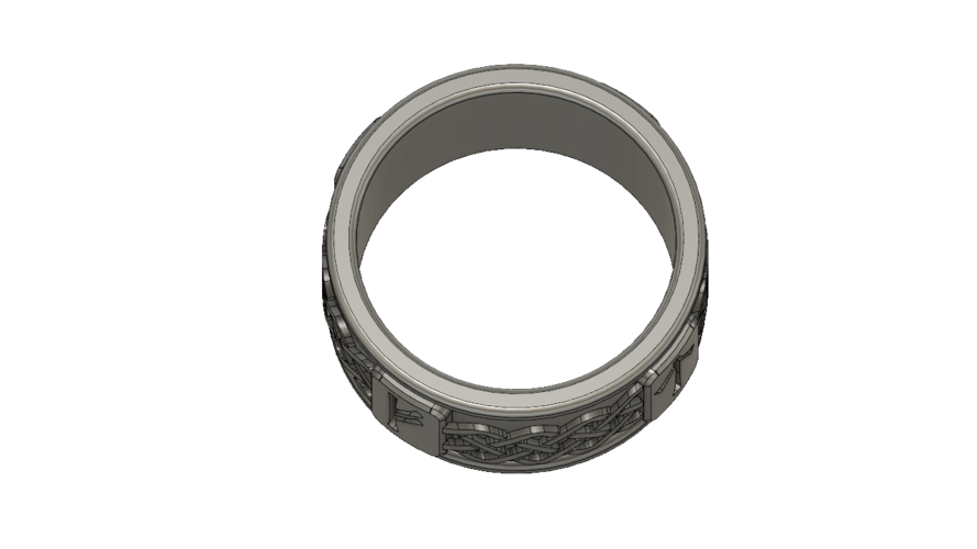 Viking Rune Ring 3D Print 207531