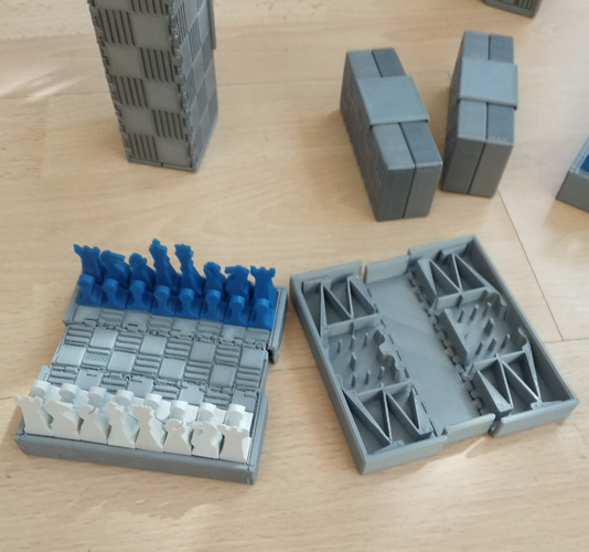 Pocket Chess Set 3D Print 207536