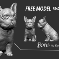 Small French Bulldog Boris 3D Printing 207590