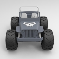 Small Old Wrangler jeep, airless wheels  3D Printing 207733