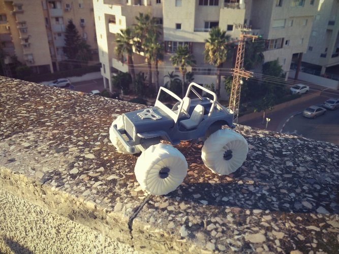 Old Wrangler jeep, airless wheels  3D Print 207736