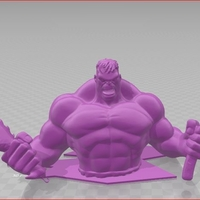 Small HUlk with GOW axe and chain knives 3D Printing 207942
