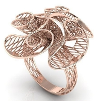 Small Flower ring  3D Printing 208044