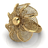 Small Flower ring 3 3D Printing 208070