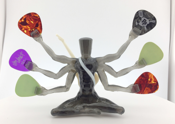 Pick Guru - guitar pick holder/sculpture 3D Print 208071