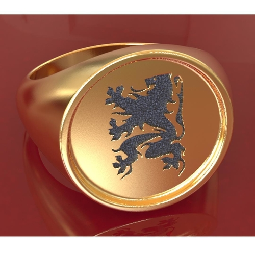 Flanders Lion ring 3D Print 208114