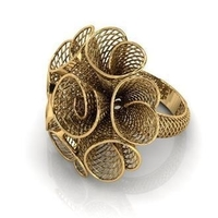 Small Flower ring 4 3D Printing 208123