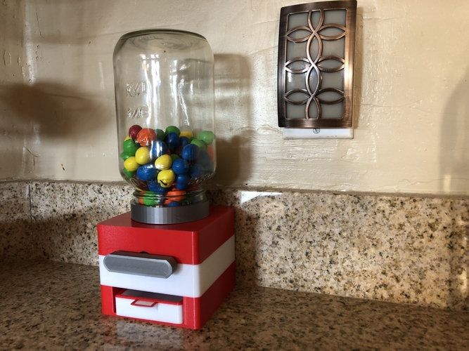 Easy Print No Support Modular Candy Dispenser 3D Print 208167