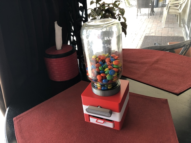 Easy Print No Support Modular Candy Dispenser 3D Print 208170