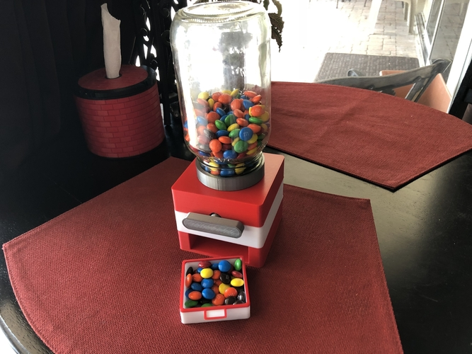 Easy Print No Support Modular Candy Dispenser 3D Print 208171