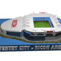 Small Coventry City - Ricoh Arena 3D Printing 208186