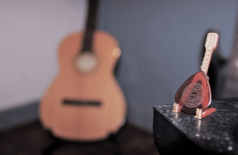Small Guitar Pick Holder 3D Print 208194
