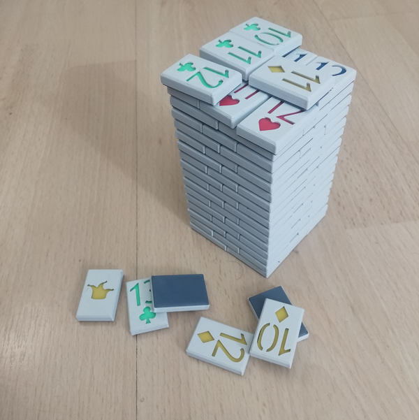 Medium Playing Card Tiles 3D Printing 208328