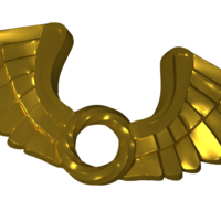 Small WING PENDENT 3D PRINT MODEL 3D Printing 208367