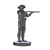 Small Boer Warrior Wargame Miniature 3D Printing 208382