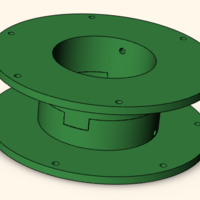 Small cable reel 3D Printing 208406