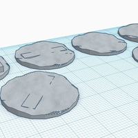 Small 30mm diameter walker bases 3D Printing 208419