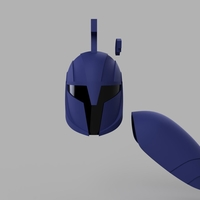 Small Star Wars The Clone Wars Senate Commando Helmet and Shoulder 3D Printing 208435