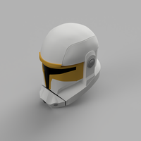Small Star Wars The Clone Wars Republic Commando Helmet  3D Printing 208445