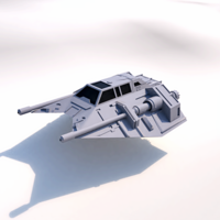 Small NAVE T-47 STAR WARS 3D Printing 208523