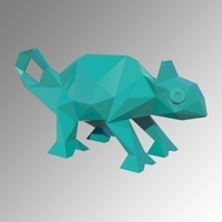 Small CHAMELEON LOW POLY 3D Printing 208648