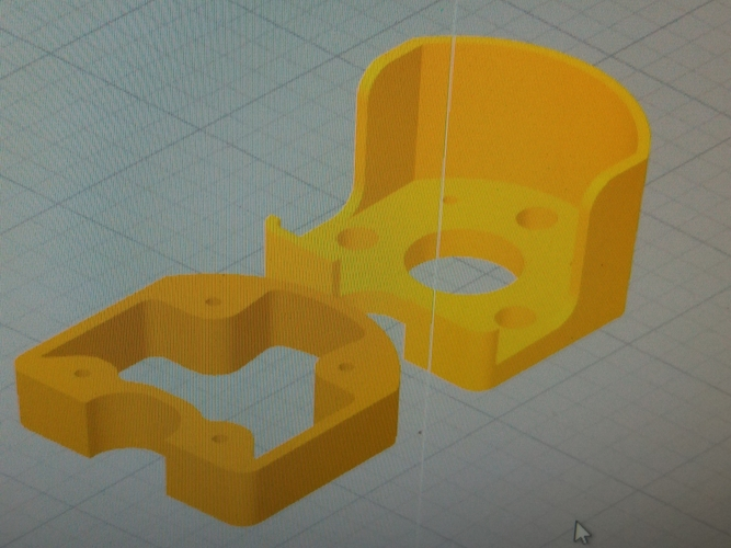 Engine mounts  Minimag Multiplex  3D Print 208686