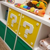 Small SUPER MARIO QUESTION MARK BLOCK IKEA FOR SHELFS 3D Printing 208693