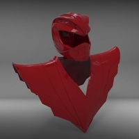 Small RYU power ranger helmet and chestplate 3D Printing 208811