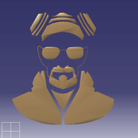 Small Breaking bad walter white 3D Printing 208823