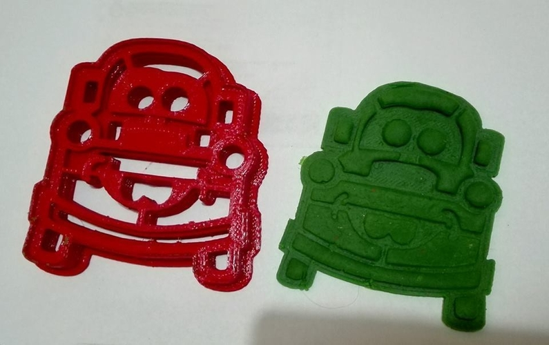 Cortante Galletas Mate Cars, Mate cookies cutter 3D Print 208849