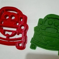 Small Cortante Galletas Mate Cars, Mate cookies cutter 3D Printing 208849