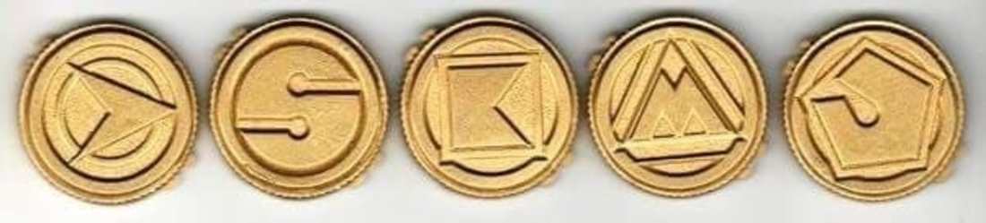 Alien rangers power coins 3D print model 3D Print 208883