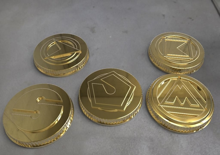 Alien rangers power coins 3D print model 3D Print 208884