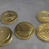 Small Alien rangers power coins 3D print model 3D Printing 208884