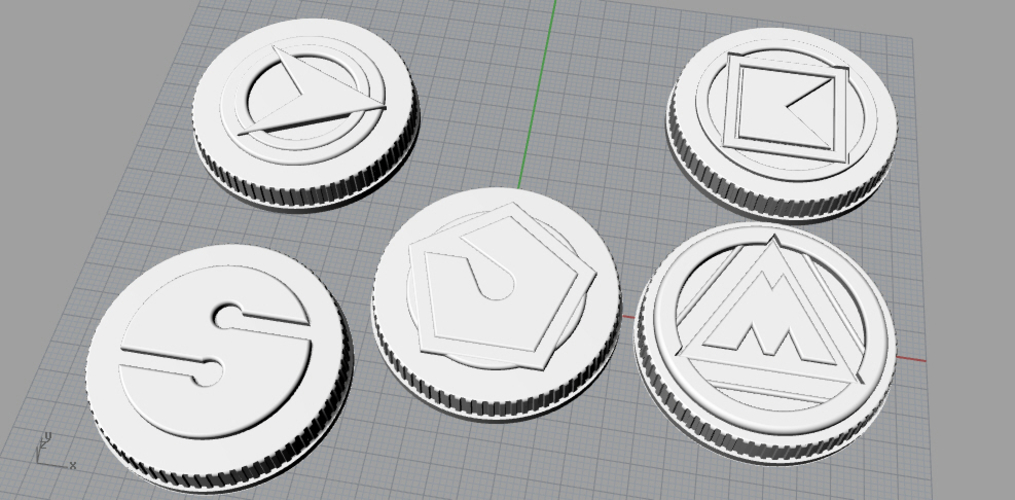 Alien rangers power coins 3D print model 3D Print 208885