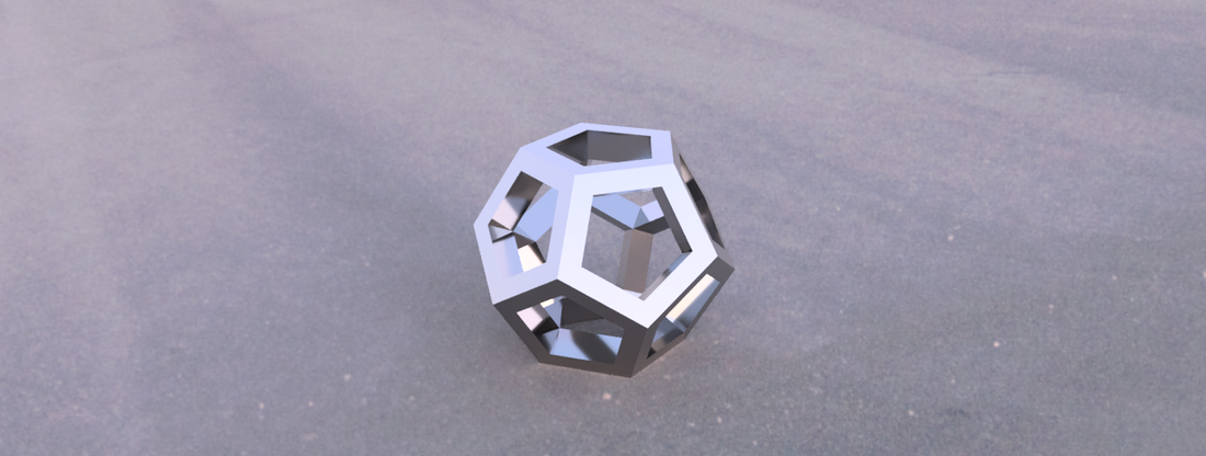 hollowed DODECAHEDRON 3D Print 208956