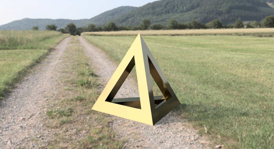 hollowed TETRAHEDRON  3D Print 208981