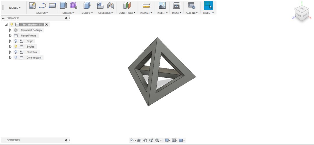hollowed TETRAHEDRON  3D Print 208982